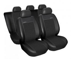 Autopotahy CITROEN BERLINGO II , 5 samostatných sedaček, Eco kůže + alcantara černé