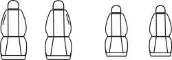 Autopotahy Citroen C2, od r. 2003-2009, Dynamic žakar tmavý