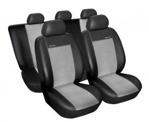 Autopotahy Citroen C4 , 5 dveř, od r. 2004 do 2010, Eco kůže + alcantara šedé