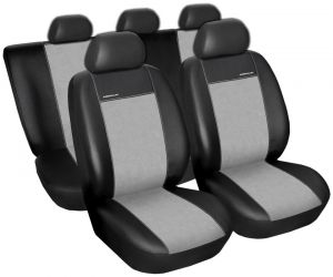 Autopotahy Dacia LODGY 7 MÍST,BEZ STOLKŮ A BEZ LOKET. OPĚRKY, od 2012, Eco kůže+alc. šedé