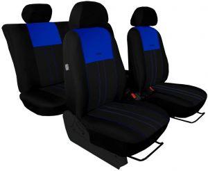 Autopotahy NISSAN PULSAR, se zadní loketní opěrkou, od r. 2014, Duo Tuning modro černé