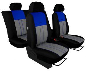 Autopotahy NISSAN PULSAR, se zadní loketní opěrkou, od r. 2014, Duo Tuning modro šedé