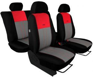 Autopotahy NISSAN PULSAR, se zadní loketní opěrkou, od r. 2014, Duo Tuning červeno šedé