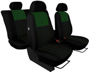Autopotahy NISSAN PULSAR, se zadní loketní opěrkou, od r. 2014, Duo Tuning zeleno černé