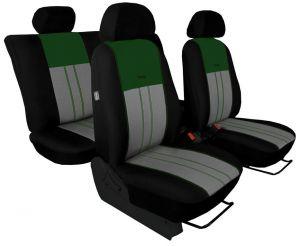 Autopotahy NISSAN PULSAR, se zadní loketní opěrkou, od r. 2014, Duo Tuning zeleno šedé