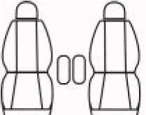 Autopotahy Citroen Berlingo II, 2 místa, od r. 2008, Dynamic žakar tmavý