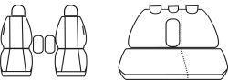 Autopotahy Citroen C5  I, od r. 2001-2004, Dynamic žakar tmavý