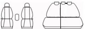 Autopotahy FIAT QUBO, 5 míst, od r. 2009, Dynamic žakar tmavý