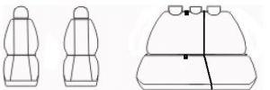Autopotahy KIA CEED, II, bez zadní loketní opěrky, od r. 2012, Dynamic žakar tmavý