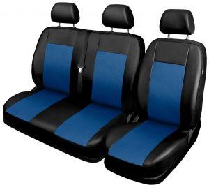 Autopotahy pro BUS, DODÁVKU, 3 místa 1+2, ekokůže COMFORT modré