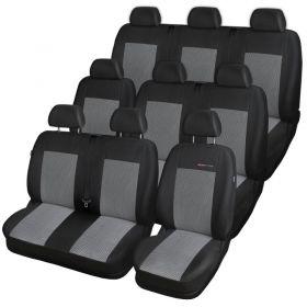 Autopotahy VOLKSWAGEN T6 TRANSPORTER, MULTIVAN, 9 míst,1+2+2+1+3, od r. 2015, šedo černé