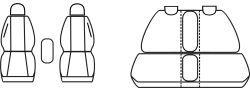 Autopotahy OPEL MERIVA II B, od r. 2010, Dynamic žakar tmavý