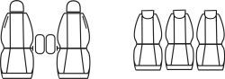 Autopotahy PEUGEOT 307, SW, KOMBI, 5 SEDADEL, od r. 2001-2008, Dynamic žakar tmavý