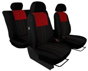 Autopotahy VOLKSWAGEN POLO V, dělená zadní sedadla, od r. v.2009, DUO TUNING vínovo černé