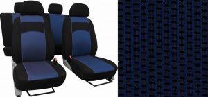 Autopotahy VOLKSWAGEN POLO V, dělená zadní sedadla, od r. v. 2009, VIP modré