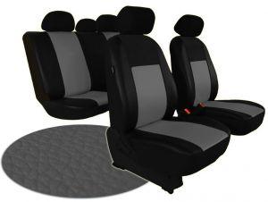 Autopotahy VOLKSWAGEN POLO V, dělená zadní sedadla, od r. v. 2009, kožené PELLE šedé