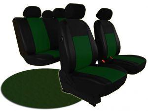 Autopotahy VOLKSWAGEN POLO V, dělená zadní sedadla, od r. v. 2009, kožené PELLE zelené