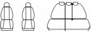 Autopotahy SEAT TOLEDO III, od r. 2004, Dynamic žakar tmavý