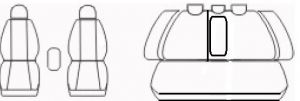 Autopotahy Toyota Corolla X, sedan, od r. 2006-2013, Dynamic žakar tmavý