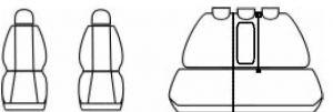 Autopotahy Toyota Rav 4 III, od r. 2005-2012, žakar tmavý