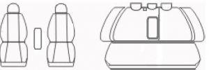 Autopotahy Volkswagen Passat B 6, sedan, TRENDLINE, od r 2005, Dynamic žakar tmavý