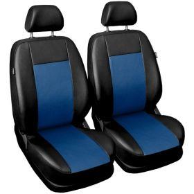 Autopotahy COMFORT kožené, sada pro dvě sedadla, modré