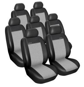 Autopotahy Ford Galaxy III, od r. 2006, 1X PŘEDNÍ LOKETNÍ OPĚRKA, 7 míst, Eko kůže šedé