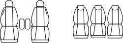 Autopotahy Citroen Berlingo II XTR, MULTI, 5 SEDAČEK, od r. 2008, Dynamic žakar tmavý