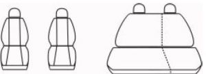 Autopotahy Seat Cordoba II, od r. 2002-2009, šedé