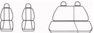 Autopotahy Seat IBIZA III, od r. 2002-2009, šedé