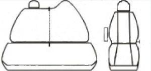Autopotahy OPEL MOVANO IV, 3 místa, dělené dvojopěradlo, od r. 2010, Dynamic žakar tmavý