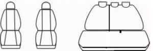 Autopotahy Chevrolet Aveo/ Kalos od r.  2002-2006, žakar tmavý
