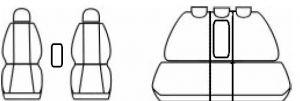Autopotahy Opel Meriva I, od r. 2002-2010, antracit Vyrobeno v EU