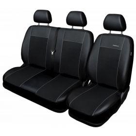 Autopotahy Volkswagen Crafter, 3 místný, od r. 2006, Eco kůže + alcantara černé Vyrobeno v EU