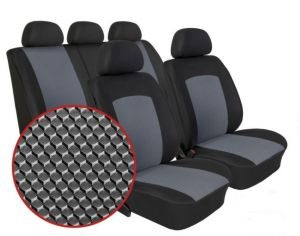 Autopotahy SEAT IBIZA IV, DĚLENÁ, od r. 2008, Dynamic šedé