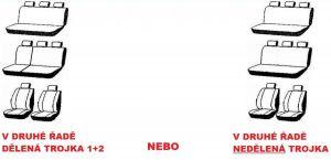 Autopotahy VOLKSWAGEN T4, 8 míst, od r. 1990-2003, AUTHENTIC DOBLO žakar červený