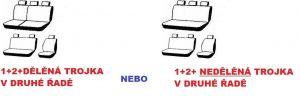 Autopotahy VOLKSWAGEN T5, 6 míst, od r. 2003-2014, AUTHENTIC PREMIUM, žakar červený