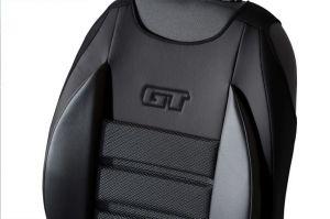 Ergonomický potah na 1 sedadlo GT ERGONOMIC LEATHER, černé