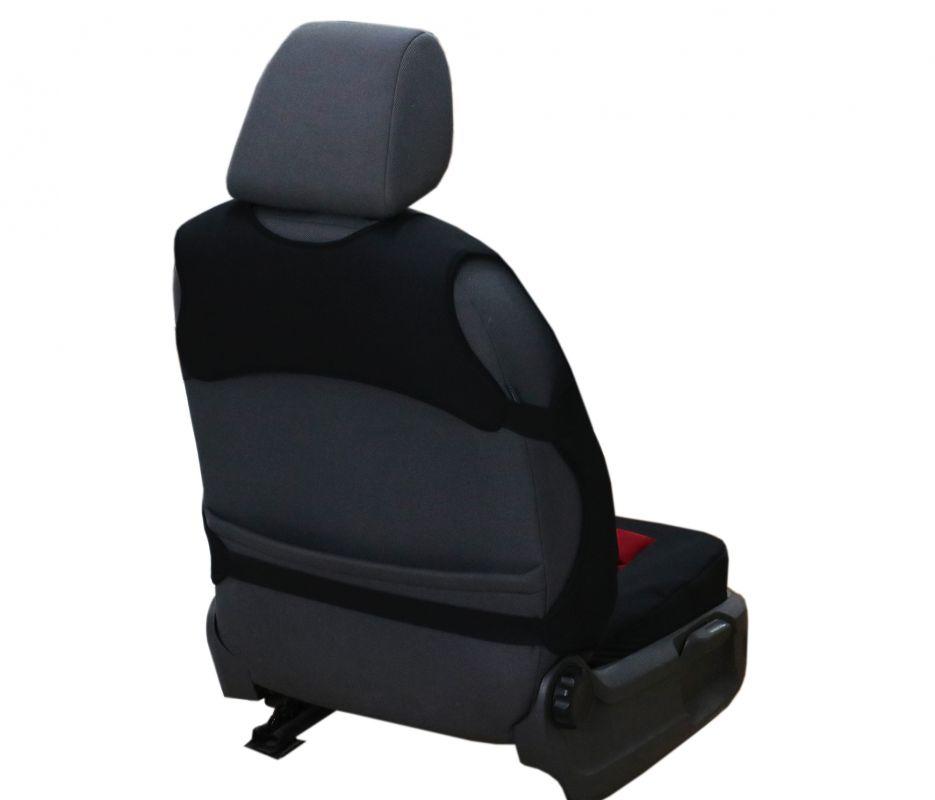 Ergonomický potah na 1 sedadlo GT ERGONOMIC LEATHER, šedé