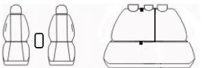 Autopotahy KIA CEED III, BEZ zadní loketní opěrky, od r. 2018, ROYAL-6