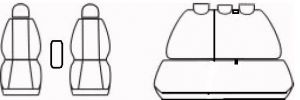 Autopotahy PICANTO III, od r. 2017, ELEGANCE šedé