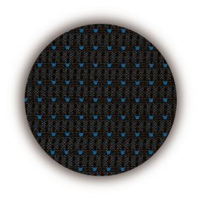 Autopotahy VOLKSWAGEN T6, 9 míst, od r. 2015, AUTHENTIC PREMIUM žakar modrý