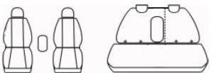 Autopotahy AUDI A5 8T SPORTBACK, COUPE, od r. 2007-2016, AUTHENTIC DOBLO, žakar červený