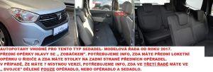 Autopotahy DACIA LODGY 5 MÍST, od r. 2017, VIP černé