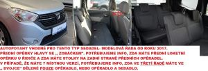 Autopotahy DACIA LODGY 7 MÍST, od r. 2017, VIP černé
