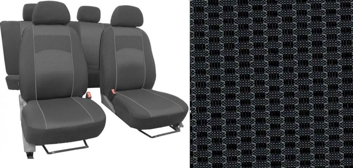 Autopotahy VW Golf V, 03-09, dělené z.opěradlo a sedadlo, VIP šedé